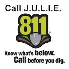 JULIE call before you dig, with 811 number