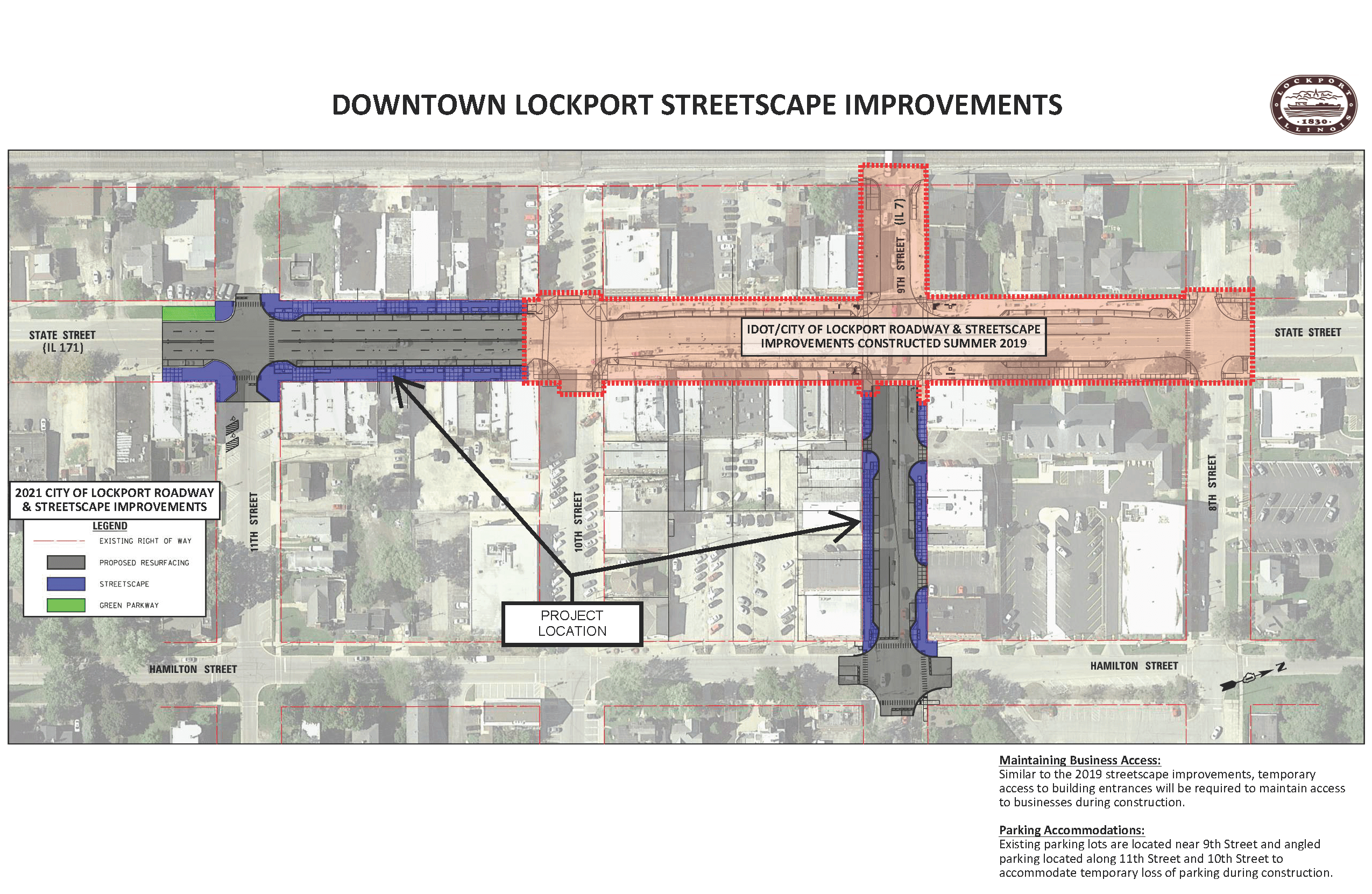 Roadway Resurfacing and Streetscape Improvements (2021)